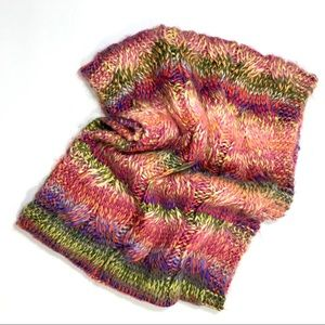 Charming Charlie Knit Cowl Round Scarf Multicolor